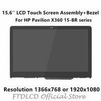 FTDLCD 15.6 LCD Screen Touch Digitizer Assembly+Bezel+Touchboard For HP Pavilion X360 Convertible 15 BR series 15 br052od