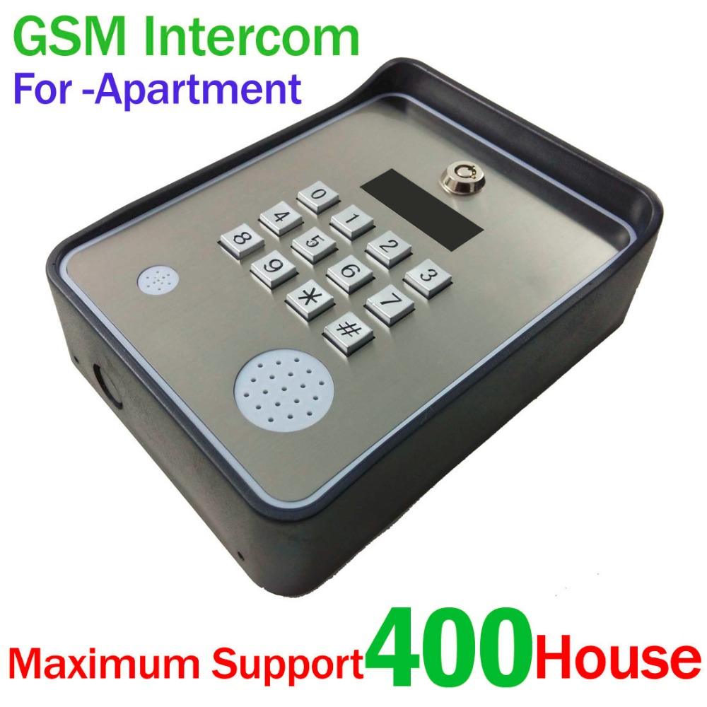 Keypad wireless gsm audio door phone intercom sms door for Door intercom