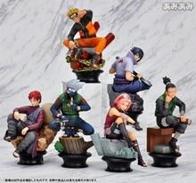 6 Pcs Anime Chess Titans Naruto Action Figure