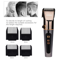 New Professional Detachable Hair Clipper Trimmer LCD Rechargeable Finely Tuned Electric Hair Cutting Machine Adjustable Speed 34