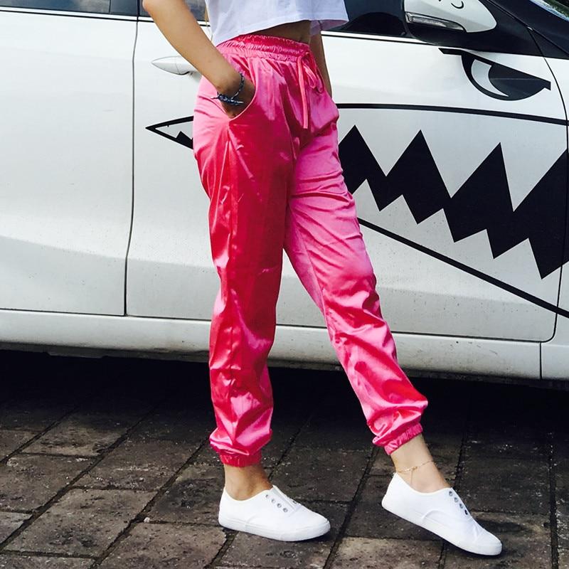 Harem Pants New Arrival Sale Lulu font b Leggings b font 2017 Spring Satin Pants Europe