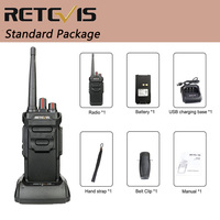 """מכשיר הקשר RETEVIS RT48 / RT648 מכשיר הקשר IP67 Waterproof PMR רדיו המירוץ PMR446 / FRS VOX שני הדרך רדיו תחנת Comunicador מקמ""""ש (5)"""