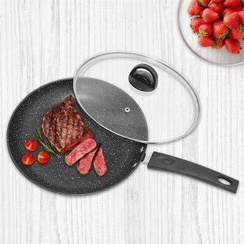 QueenTime антипригарная сковорода с длинной ручкой с крышкой Maifanite покрытие Яйцо Сковорода с длинной ручкой кухонная посуда для индукционной га...