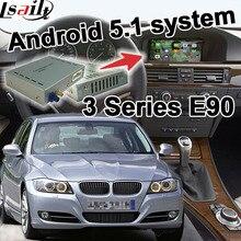 Android 6.0 cuadro de navegación GPS para BMW E90 serie 3 CIC sistema caja de interfaz de vídeo youtube enlace espejo waze iGO yandex