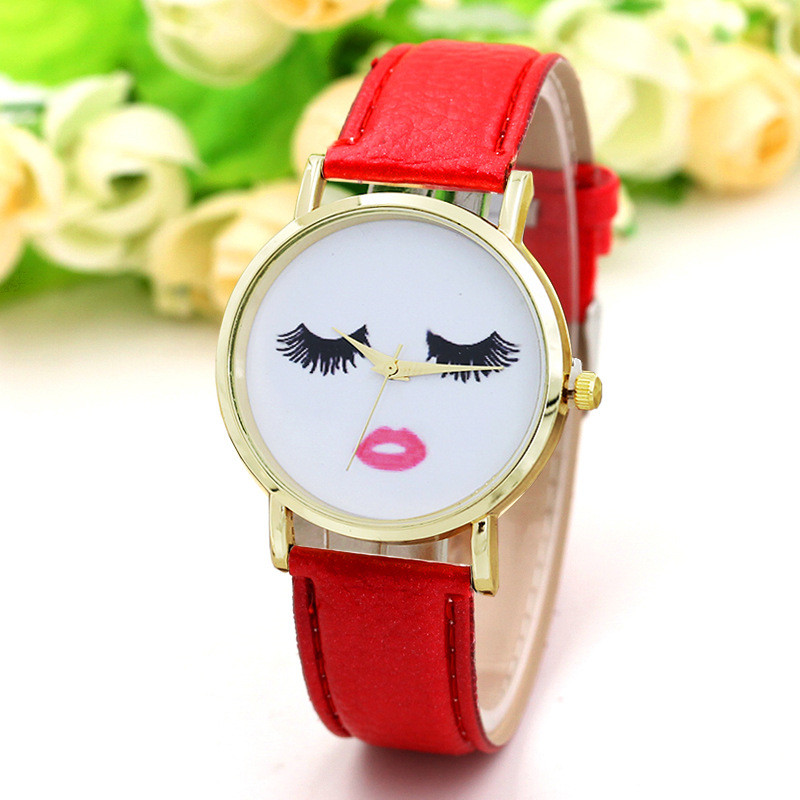 ladies watch Leather Analog dress Quartz Wrist Watch Woman New year Gift Woman Watches sexy clock relogios feminino  analog watch