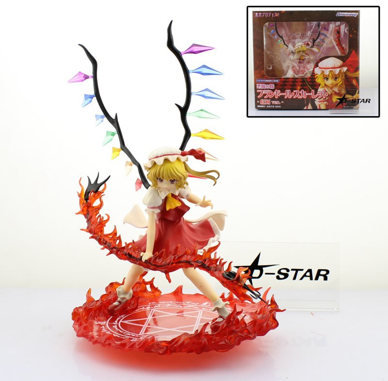 EMS Shipping 6pcs 10 Griffon Enterprises Touhou Project Flandre Scarlet Red Sword Boxed 25cm PVC Action Figure Collection Model free shipping 10 touhou project anime sister of the devil flandre scarlet boxed 24cm pvc action figure collection model doll