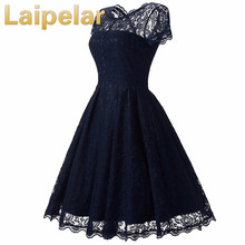 Womens Summer Lace Dress 2018 Vintage O Neck Slim Sexy Pin up Rockabilly Vestidos Party Black Dresses Laipelar Women