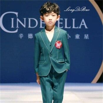 4943eaee7 Juego de los niños de tres piezas traje niño grande versión coreana del  traje pequeño chaleco traje chaqueta vestido