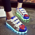 2017 Luminous Light Up LED Shoes Fashion Women Superstar Glowing Chaussure Led Shoes Women Casual Flash Lumineuse for Adults