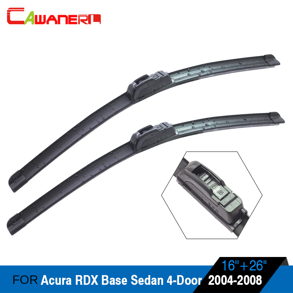 Cawanerl Car Soft Rubber Wiper Blade Vehicle Front