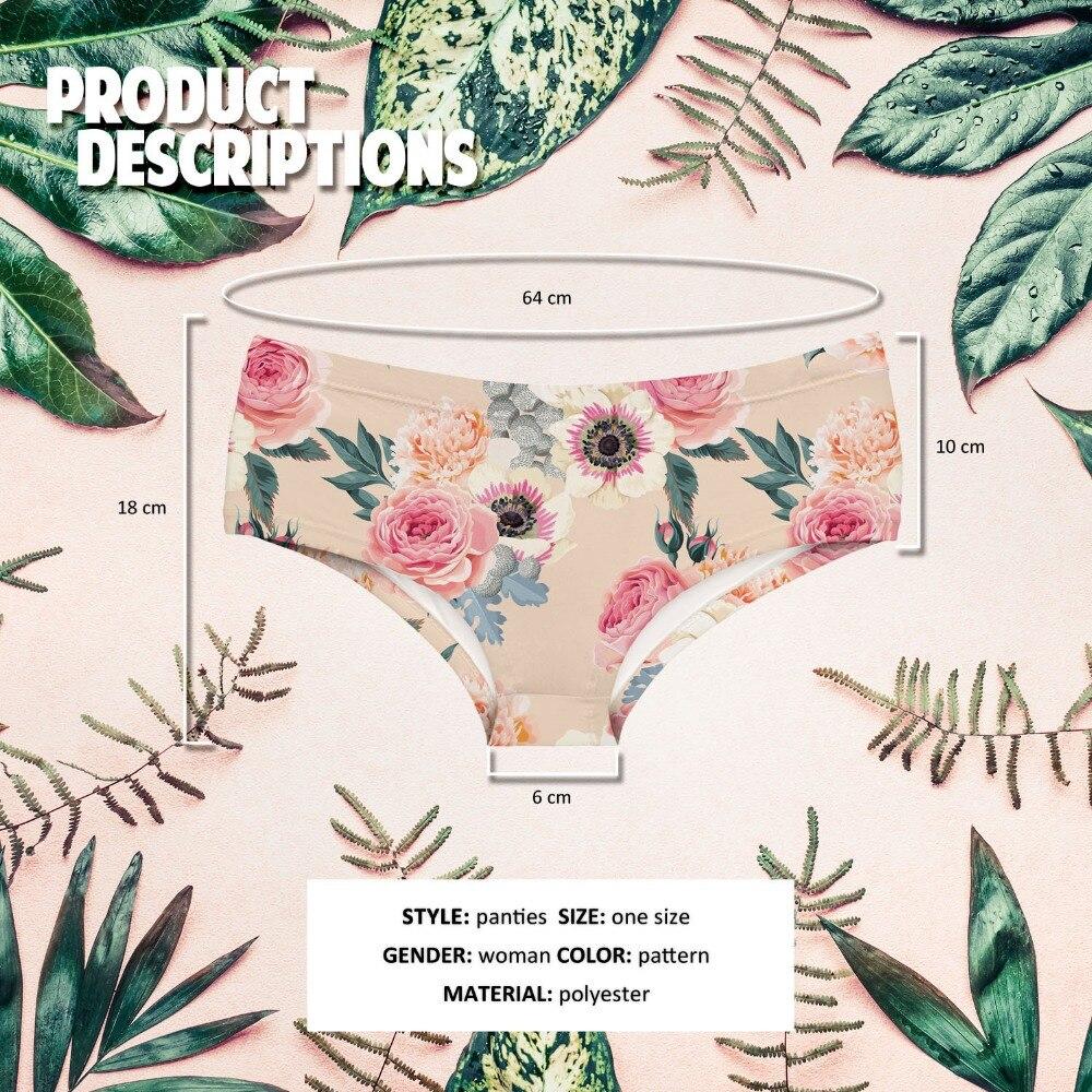 LEIMOLIS vintage flower rose funny print sexy hot panties female kawaii Lovely underwear push up briefs women lingerie thongs in women 39 s panties from Underwear amp Sleepwears