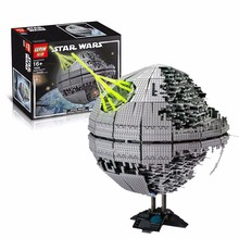 2016 New LEPIN 05026 3449Pcs Star Wars Death Star II Model Building Kits Minifigure Blocks Bricks Children Toys Gift