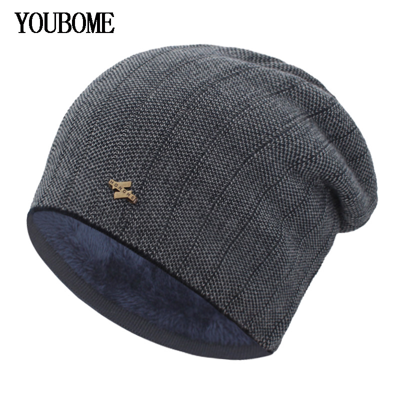 YOUBOME Winter Hats For Men Beanies Knitted Hat Women Skullies Mask Male Hat Baggy Warm Bonnet Gorras Knitting Beanie Winter Hat