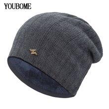 YOUBOME Winter Hats For Men Beanies Knitted Hat Women Skulli