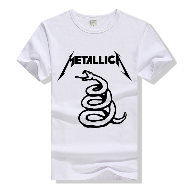 62ba18f721c Metallica Snake T Shirt Rock Band Tee Men Women T-Shirt Cotton Tshirt Heavy  Metal Rock n Roll Clothing Short Sleeve