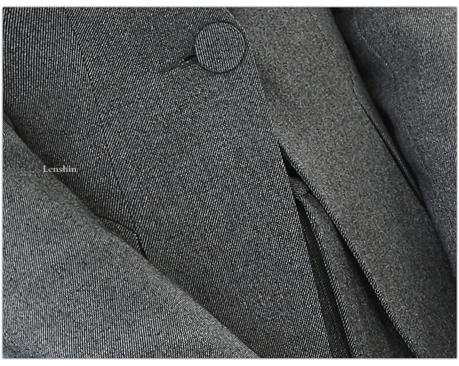 2 piece Gray Pant Suits Formal Ladies Office OL Uniform Designs Elegant Business Work Wear Jacket with Trousers Sets 16