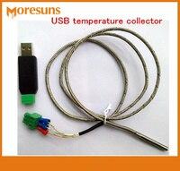 Fast Free Ship USB temperature collector temperature profile display PT100 resistance temperature probe