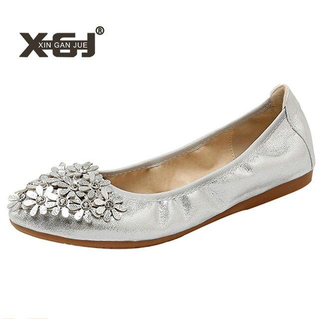 Rhinestone Butterfly Soft Flats Ballet Gold Walking Women Driving Shoes Big Sz