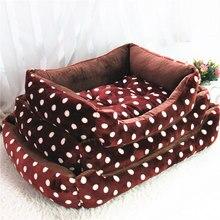 Dog Bed Dot Print Winter Warm Soft Fleece Pet Dog Cat Bed Mat For Small Medium Large Dogs Drop shipping