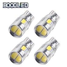 цена на T10 W5W LED Bulb 5630 SMD 6 SMD Car Light 168 194 Auto LED Clearance Light T10 LED Car Side Lamp White Bulbs Super Bright 4pcs