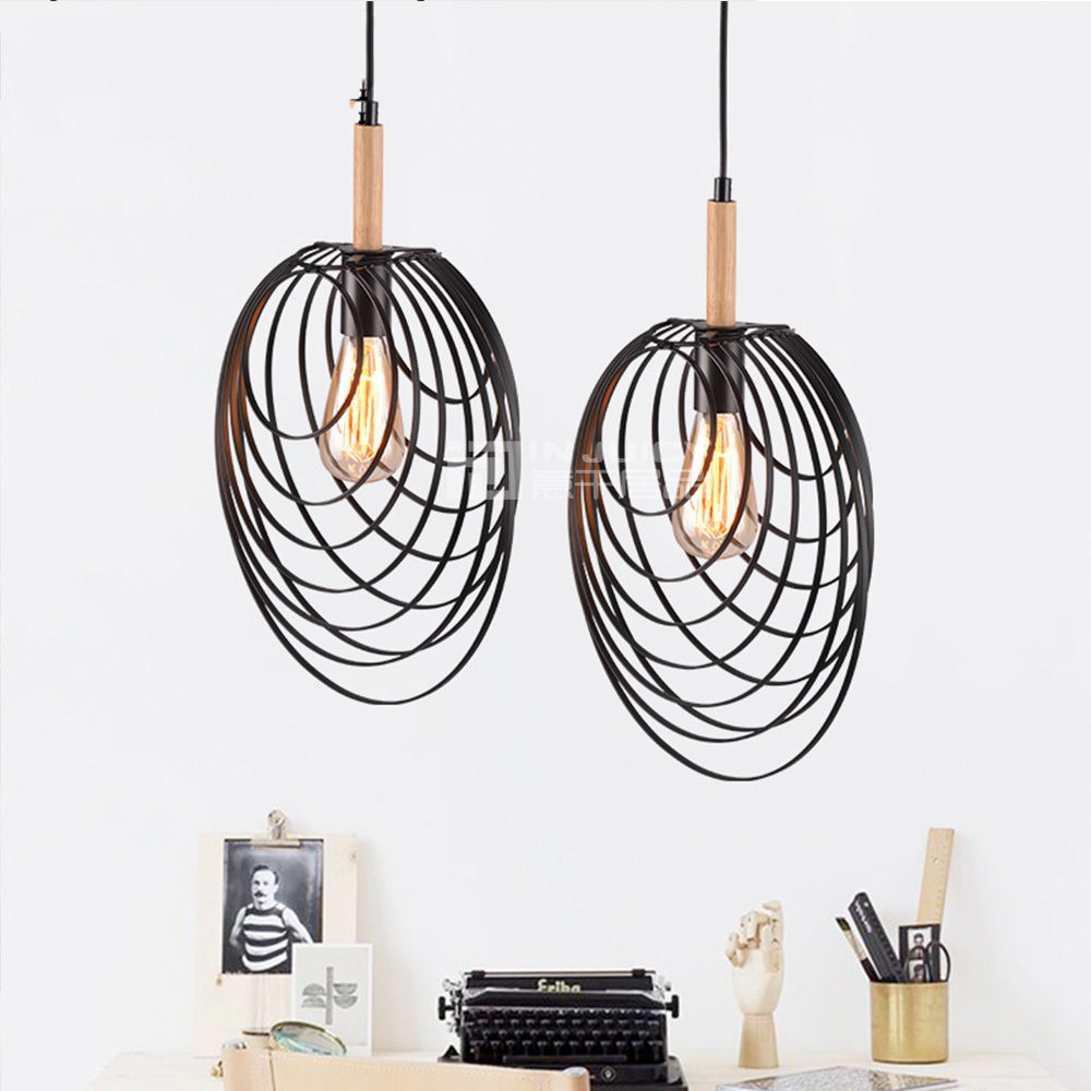 Nordic Iron Shell Loft Corridor LED Ceiling Chandelier Pendant Lamp Droplight Lighting Hall Cafe Bar Restaurant Bedroom Decor loft style metal cage ceiling lights hotel corridor creative ceiling lamps restaurant aisle balcony kitchen for home lighting