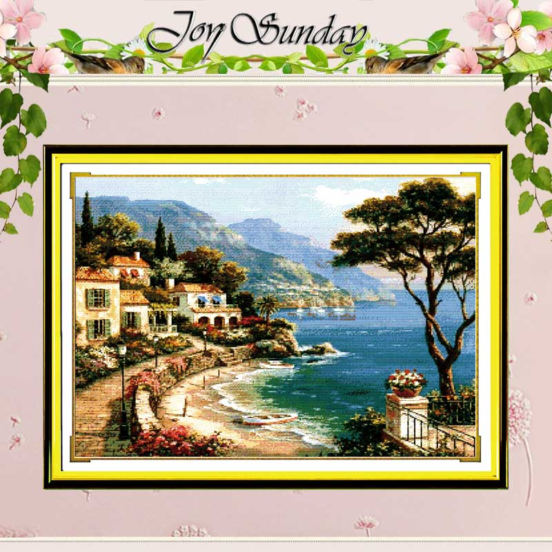 Love Harbour Counted 11CT dicetak 14CT Cross Stitch Cross Stitch Cross Stitch Set untuk Embroidery Home Decor Needlework