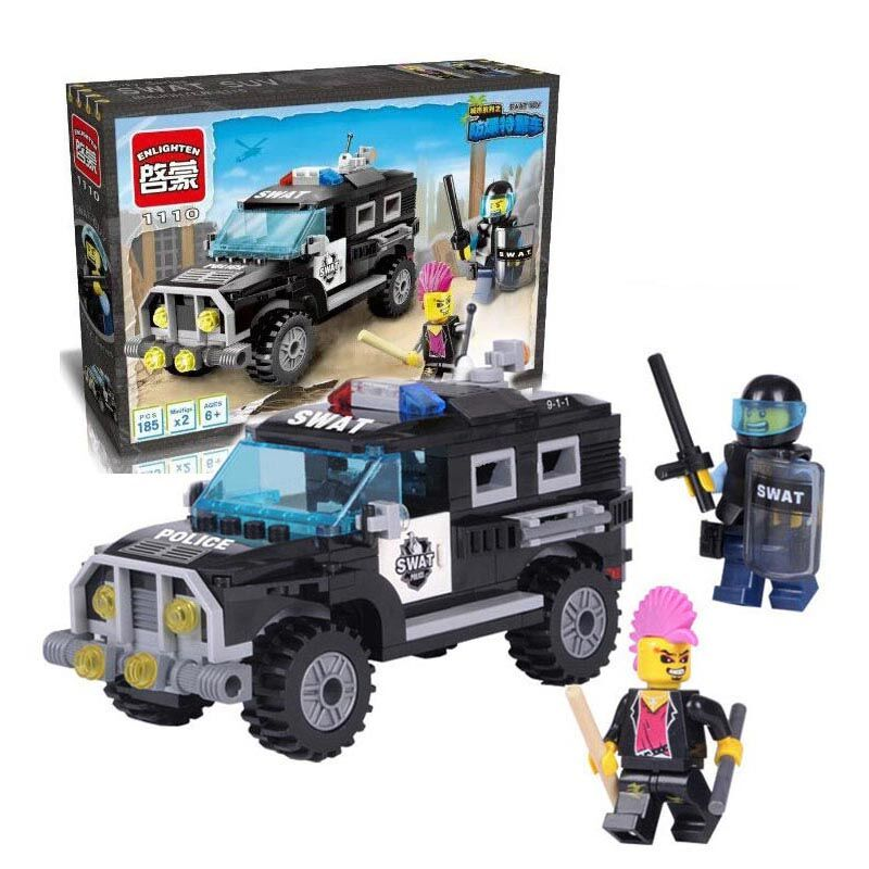 Small City Series Swat Police SUV Truck Car Model Building