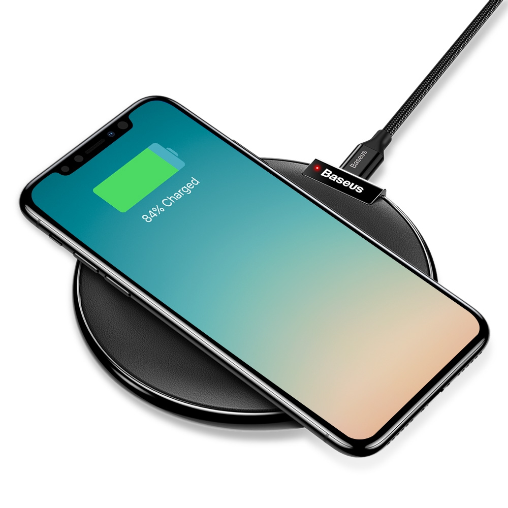 baseus ix qi wireless fast charger for iphone 8 8 plus. Black Bedroom Furniture Sets. Home Design Ideas