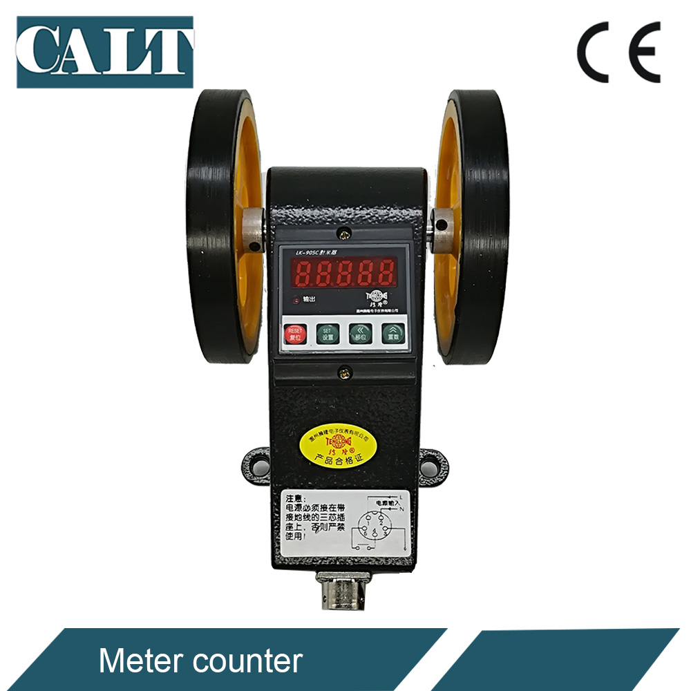 good digital rolling wheel meter counter LK 90SC with control function measuring fabric textile cable length