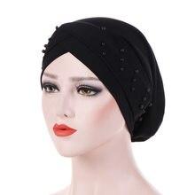 bbfa11eb Women Cancer Chemo Hat Beanie Scarf Turban Head Wrap Cap Hair Accessories  for Women Headband Elastic Turban Cap Hair Loss Cap