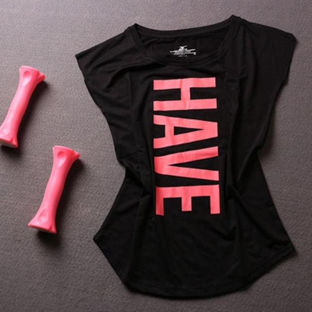 Women Short Sleeve Yoga T Shirt