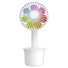 Colored Sunflower Mini Handheld Fan 3 Adjustable Speeds Usb Rechargeable Travelling Handy With Removable Base