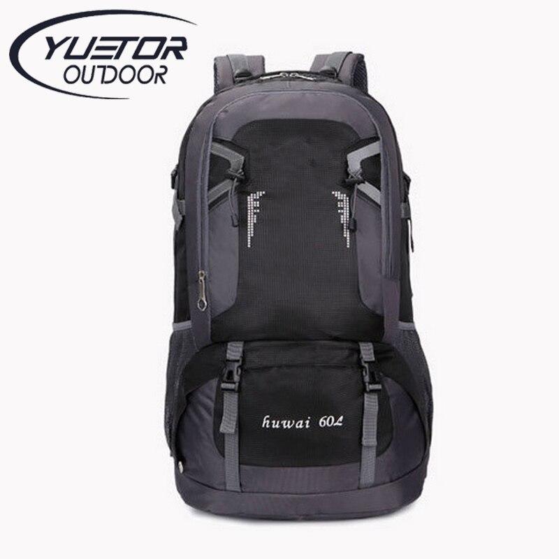 Marca YUETOR 60L mochila Grande Al Aire Libre Bolsa de Viaje de Camping Senderis