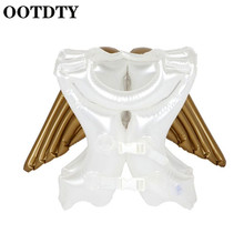 OOTDTY Inflatable Kids Swimming RingAngel Wings Shape Swimsuit Baby Safety for Beach Pool  Children swimsuit