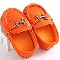 Wendywu 2017 baby shoes baby first walker shoes couro macio solado shoes para o bebê meninos fit 0-1 anos preto azul orange