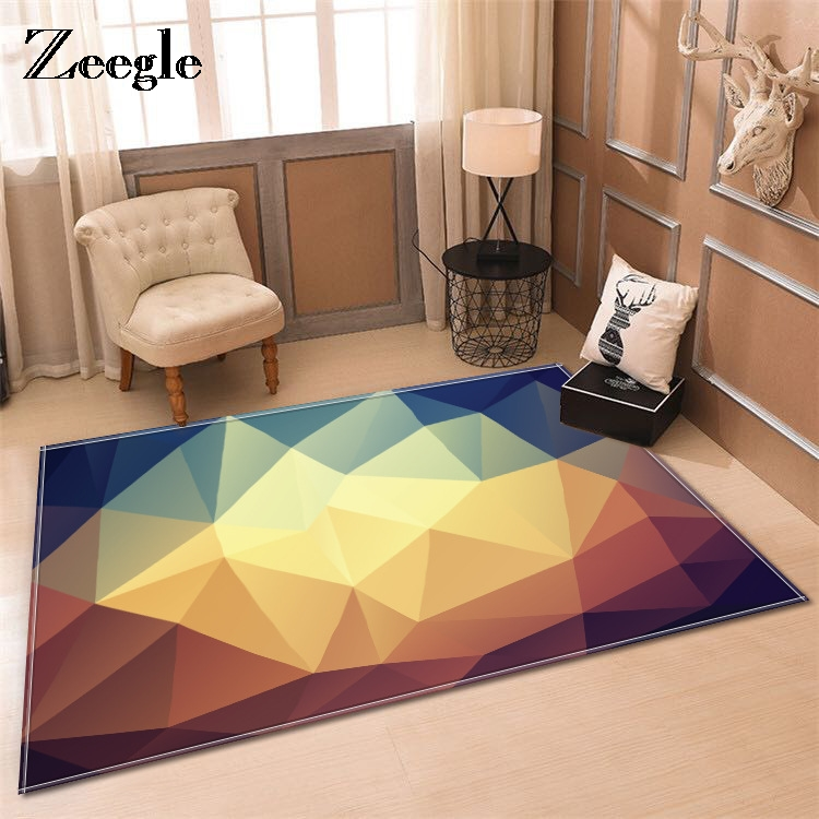 Zeegle Modern Carpets For living Room Rectangle Geometric Area Rugs Large Anti-slip Carpet Kids Room Home Decorative Bedroom Rug