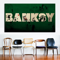 QCART Abstract WALL PAINTING ON CANVAS Banksy Artwork Graffiti Street Art Best SALES No FRAME Wall