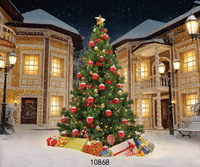 SJOLOON Christmas photography backdrops Christmas tree photographic background snow photo backdrop fond photo studio vinyl props
