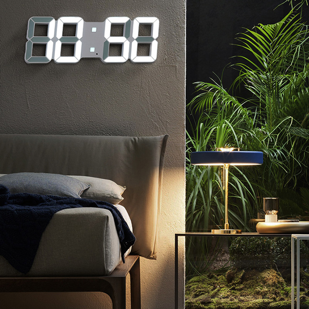 Wall-Clock Table Nightlight Display Date Time Digital Modern-Design Home 3D LED Living-Room-Decor