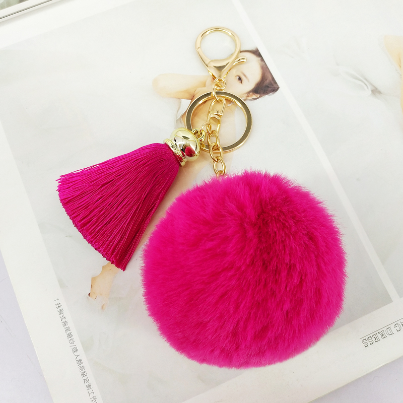 Artificial Fur Fluffy Cat Key Handbag Fur Ornament Key Handbag Ring Pendant Charm Cute Accessories Sale Price Bag Parts & Accessories