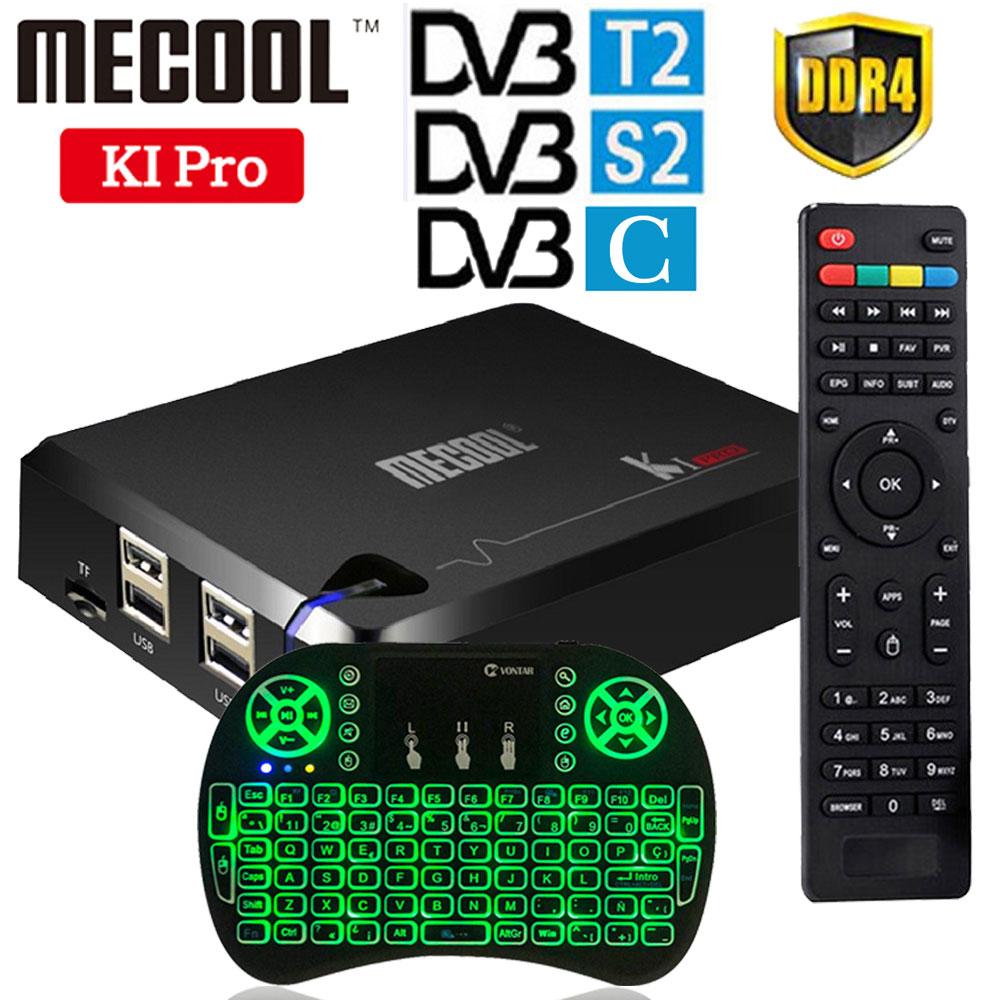 MECOOL KI PRO Android 7.1 TV Box Amlogic S905D Quad Core DVB-T2/DVB-S2/DVB-C BT4.1 2G/16G K1 Pro Support 4K CCCAM NEWCAMD Ccam k1 dvb s2 android 4 4 2 amlogic s805 quad core tv box