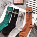 European 2017 Fashion Women Socks Diamond Short Socks Cross Autumn/Winter Gem Candy Color Hand-made Female Socks