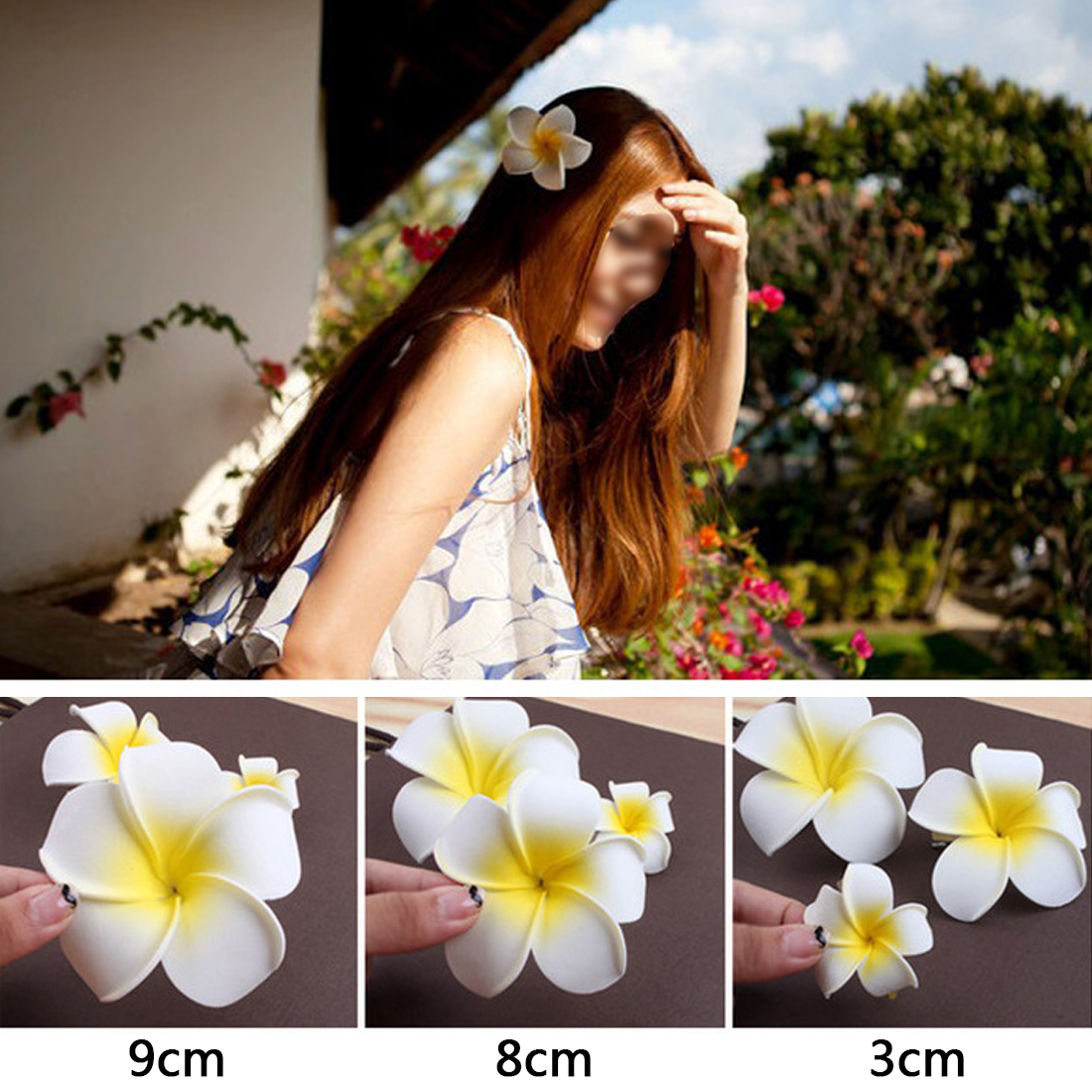 HOT Women   headwear   Plumeria Flower Hairpin Bridal Hair Pins Bohemia Seaside Beach Accessories wild clothing Accessories