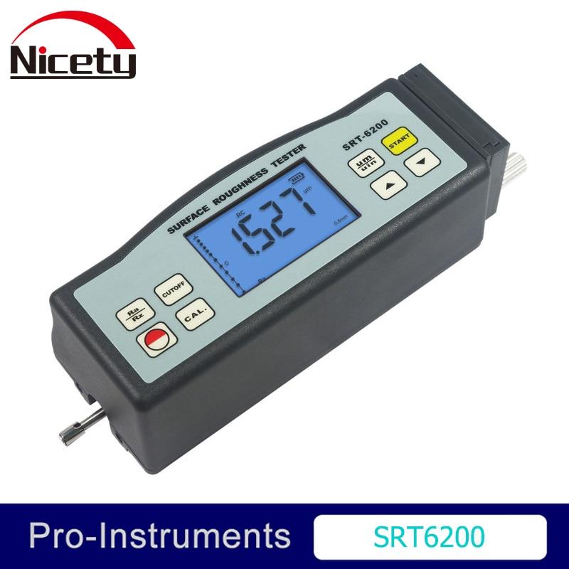 Landtek SRT-6200 Superfície Digital Roughness Tester Medidor Medidor Faixa Ra Rz ISO DIN ANSI e JIS Padrão SRT6200 Nulo