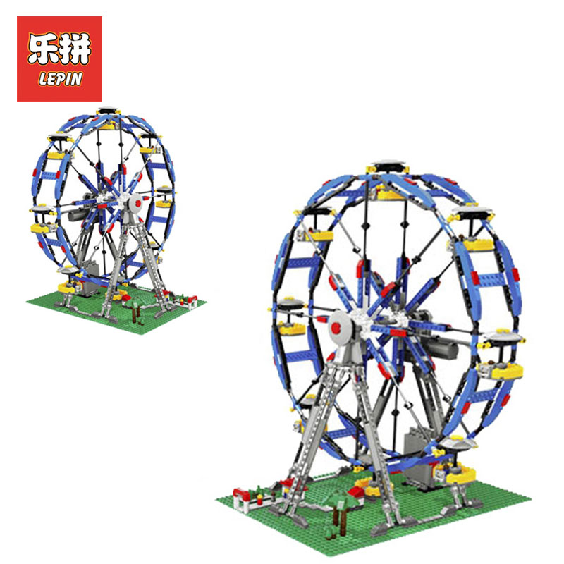 Lepin 15033 Building Classic Series Three-in-One Electric Ferris Wheel Model Building kits Blocks Bricks Toys LegoINGlys 10247 lepin 15012 2478pcs city series expert ferris wheel model building kits blocks bricks lepins toy gift clone 10247
