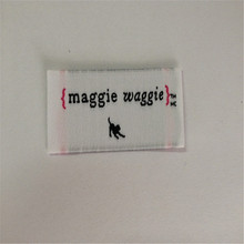 Custom Brand Garment Woven Label Clothing main label