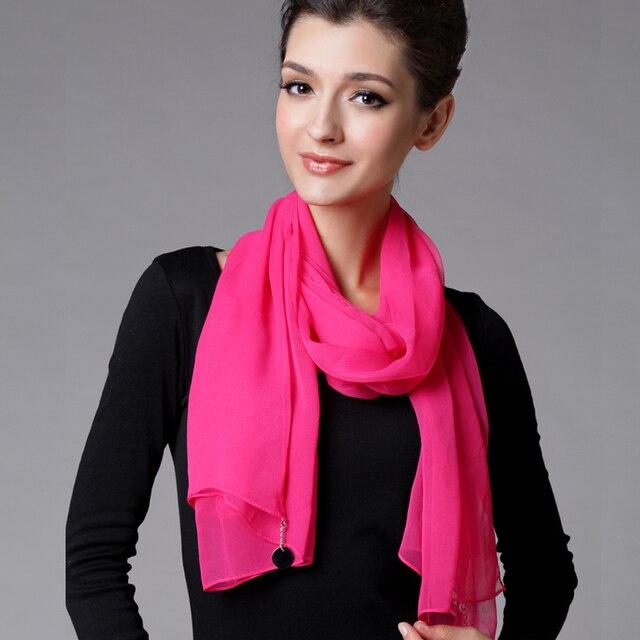 Chiffon silk scarf design long scarf multicolour all-match scarf