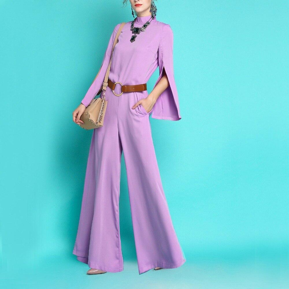 2019 vêtements été Pour Femmes Mode OL Large Jambe Salopette Vintage Loose Fit Barboteuses Élégant Slim Fit Femme du Parti Salopette
