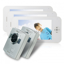 2V3 Lovely type 7 Inch TFT Digital Color LCD Monitor 1/3 CMOS Night Vision Camera Door Phone System