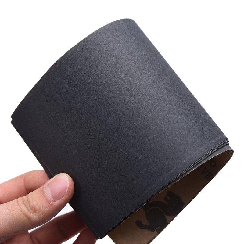 12 Abrasive Dry Wet Waterproof Sandpaper Sheets Assorted Grit Of 400/ 600/ 800/ 1000/ 1200/ 1500 Polishing Abrasive Paper Sheets